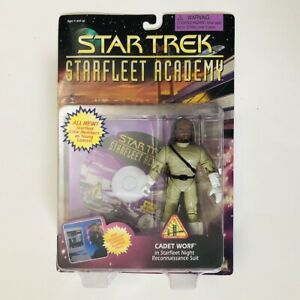 CADET-WORF-Star-Trek-Starfleet-Academy-Action-Figure-1996-MOC-with-CD-ROM