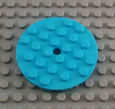 LEGO New Lot of 8 Medium Azure 2x2 Round Plate Pieces