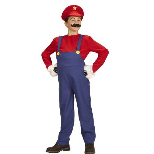 Super Mario Bros 116 Mario KLEMPNER Kinder Kostüm Karneval Fasching