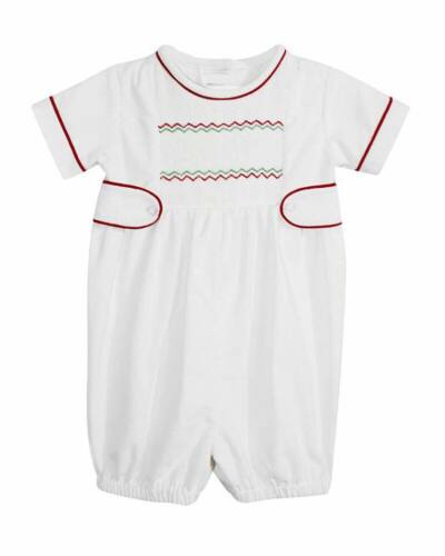 NWT Smocked Christmas Boy Bubble Multiple Sizes Available