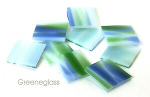 "500 Seattle Green Blue Spirit 1//2/"" SquareFusible 96Glass Mosaic Tiles"