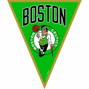 Nba Boston Celtics Plastic Flag Banner Birthday Party Supplies