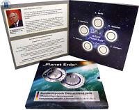 Deutschland 5 Euro Gedenkmünzen 2016 Planet Erde Mzz A- J Komplettsatz im Folder