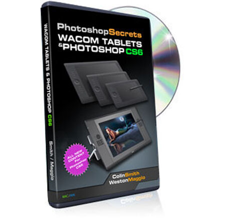Wacom Tablets and Photoshop CS6 Video Training DVD - MUST HAVE FOR TABLET USERS