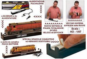 Kit électrique Roues de nettoyage Locomotives Nettoyeur automatique de roues Dc-dcc Scala-ho