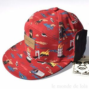 fc9a9f9445a41 Image is loading OBEY-PROPAGANDA-CITY-HUNTING-FIELD-HAT-Red-Leather-