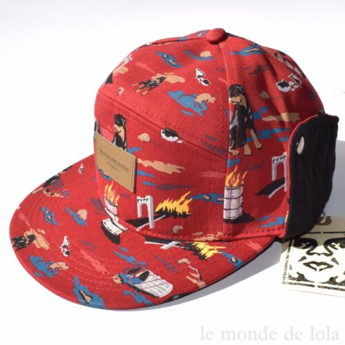 OBEY PROPAGANDA CITY HUNTING FIELD HAT Red Leather Patch Men/'s Adjustable RARE
