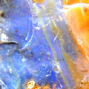 Large-Boulder-Opal-with-Blue-Green-Fire-Queensland-Australia-Unpolished-122g