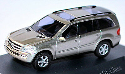 Cars Imported From Abroad Mercedes Benz Gl Class X164-2006-09 Cubanite Silver Metallic 1:87 Busch Jade White Model Building