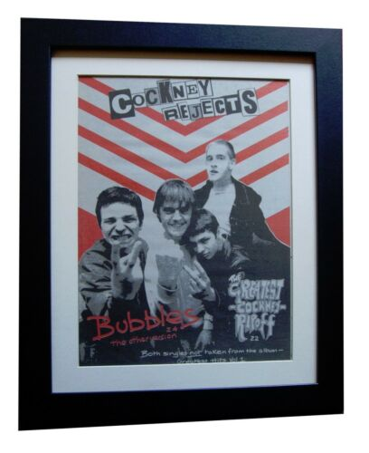COCKNEY REJECTS+Bubbles+Greatest+POSTER+AD+ORIGINAL 1980+FRAMED+FAST GLOBAL SHIP