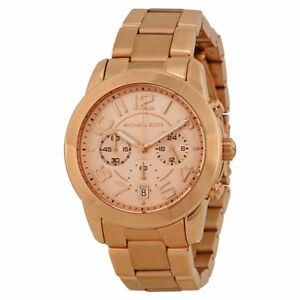 3a7ee1dcc209 Michael Kors MK5727 Women s Mercer Rose Gold-Tone Stainless Steel Bracelet  Chronograph Watch