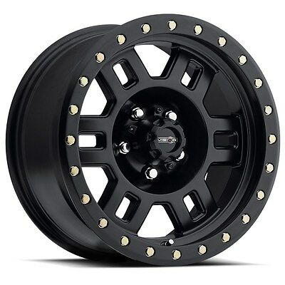"17"" Vision Manx Matte Black Wheels Rims 6x5.5 6 lug Chevrolet GM Toyota Truck"