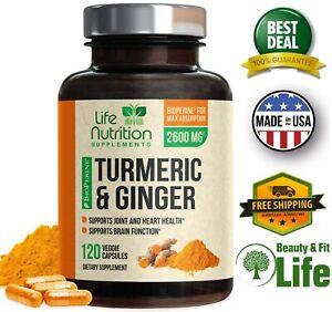TURMERIC-CURCUMIN-with-GINGER-amp-BIOPERINE-Black-Pepper-2600-mg-120-Capsules