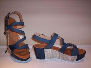 Ambra-scarpe-sandali-casual-Made-in-Italy-donna-zeppa-plateau-pelle-blu-marroni