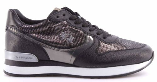 La Chaussures Nero Sneakers Saffiano Femmes It Argento Miraval L2140246 Martina WEEn1SarOv