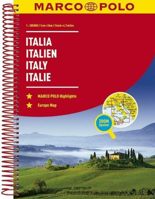 MARCO POLO Reiseatlas Italien 1:300 000 | Taschenbuch | MARCO POLO Reiseatlanten