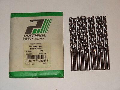 10 PTD Letter H Jobber Length Precision Twist Drills Parabolic QC-21P bright USA