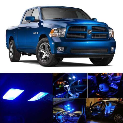 Blue LED Interior Lights Package Kit For 2009-2017 Dodge RAM 1500 2500 3500 PZ