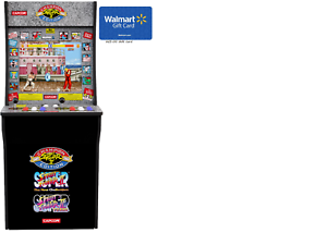 Details about Arcade 1 up street fighter 2 Machine comes with $25 00  walmart gift card