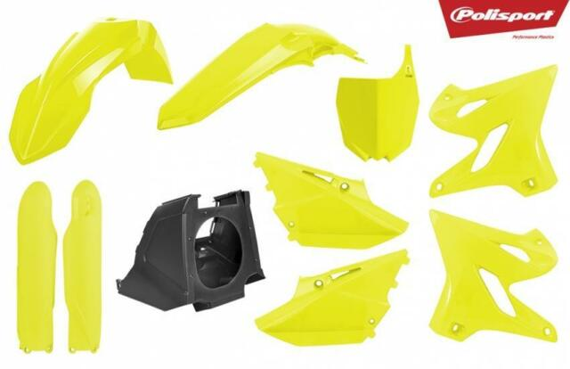 Yamaha YZ125 YZ250 2002–2014 Polisport MX Restyling Kit Flo Yellow