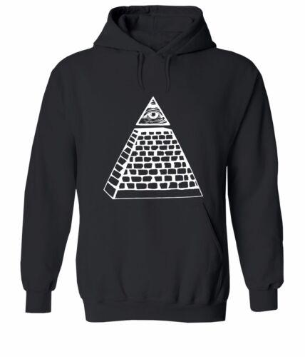 "Pyramid /""Eye of Providence/"" Masonic Illuminati Sweater Jacket Pullover Hoodie"