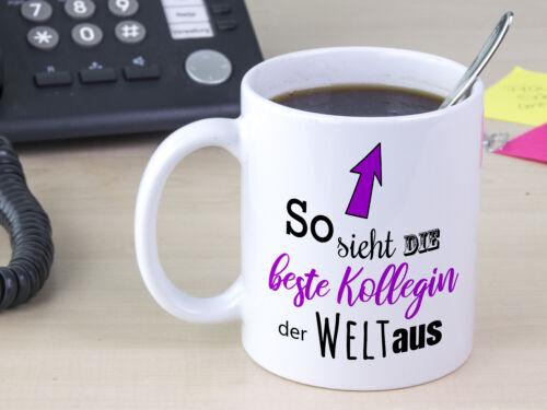 Kaffe-Tasse Beste Kollegin der Welt Geschenk Mitarbeiter Partner Weihnachten