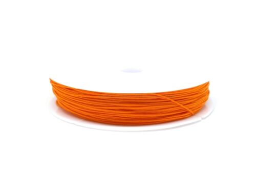 Orange 25m 0.5mm Fil Nylon Tressé 0.5mm Orange en Bobine de 25m