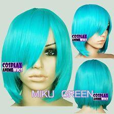 40cm Miku Green Heat Styleable Long Bang Layer Base Cosplay Wig 65_MGG