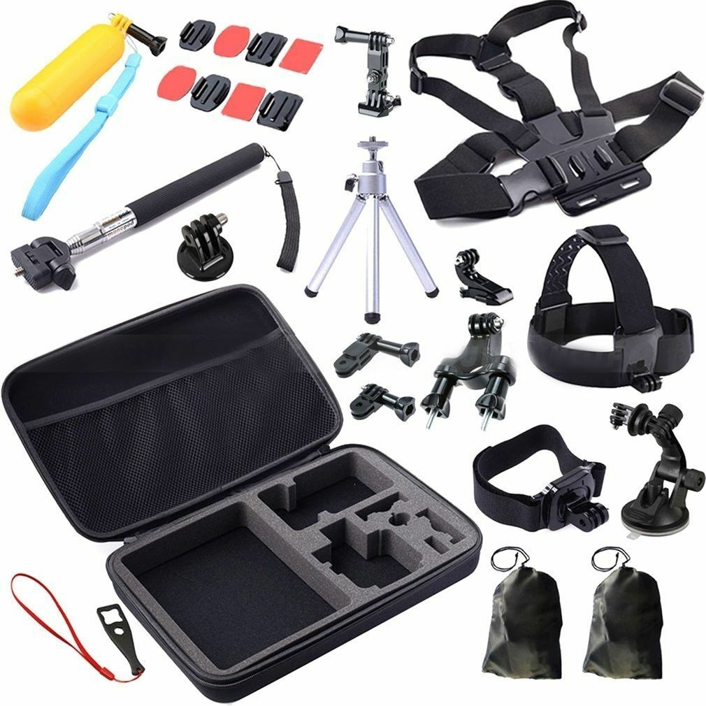 30 in1 Pole Head Chest Mount Strap for GoPro Hero Accessories Set Kit for 3+/4/5