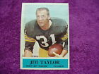 Philadelphia Jim Taylor Football Card 1964 #80 wrinkle