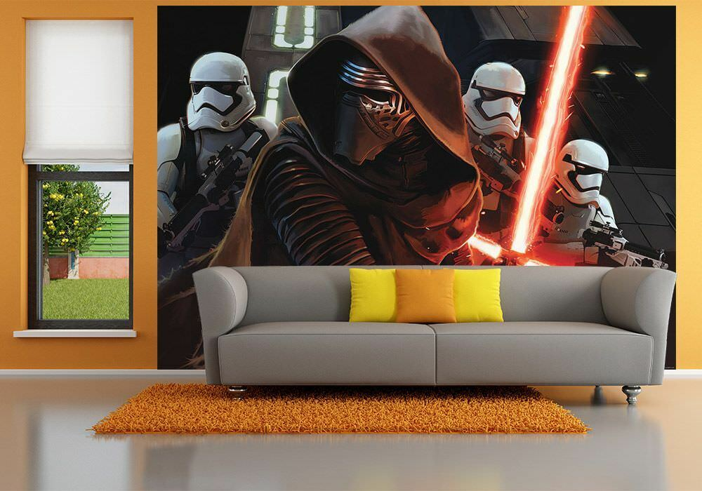 144x100inch Giant Wall mural photo wallpaper Star Wars Kylo Kylo Kylo Ren Stormtroopers 0c3f1a