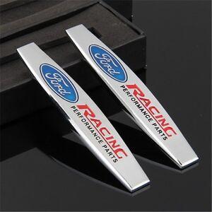 Image is loading 2-x-Trunk-Rear-Emblem-Badge-Decal-Logo- & 2 x Trunk Rear Emblem Badge Decal Logo Car Auto for FORD RACING ... markmcfarlin.com