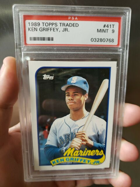 1989 topps traded #41t KEN GRIFFEY JR Seattle Mariners RC PSA 9