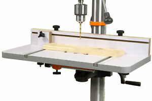 Wen Dpa2412 24 By 12 Drill Press Table With An Adjule Fence And Stop Block