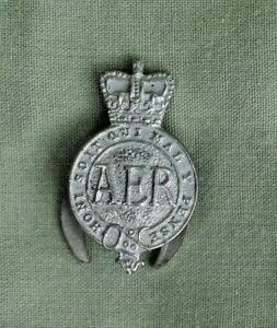 Details About Vintage Aer Army Emergency Reserve Collar Stud Badge Honi Soit Qui Mal Y Pense