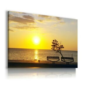SUNSET-BEACH-SEA-OCEAN-View-Canvas-Wall-Art-Picture-Large-SIZES-L266-MATAGA
