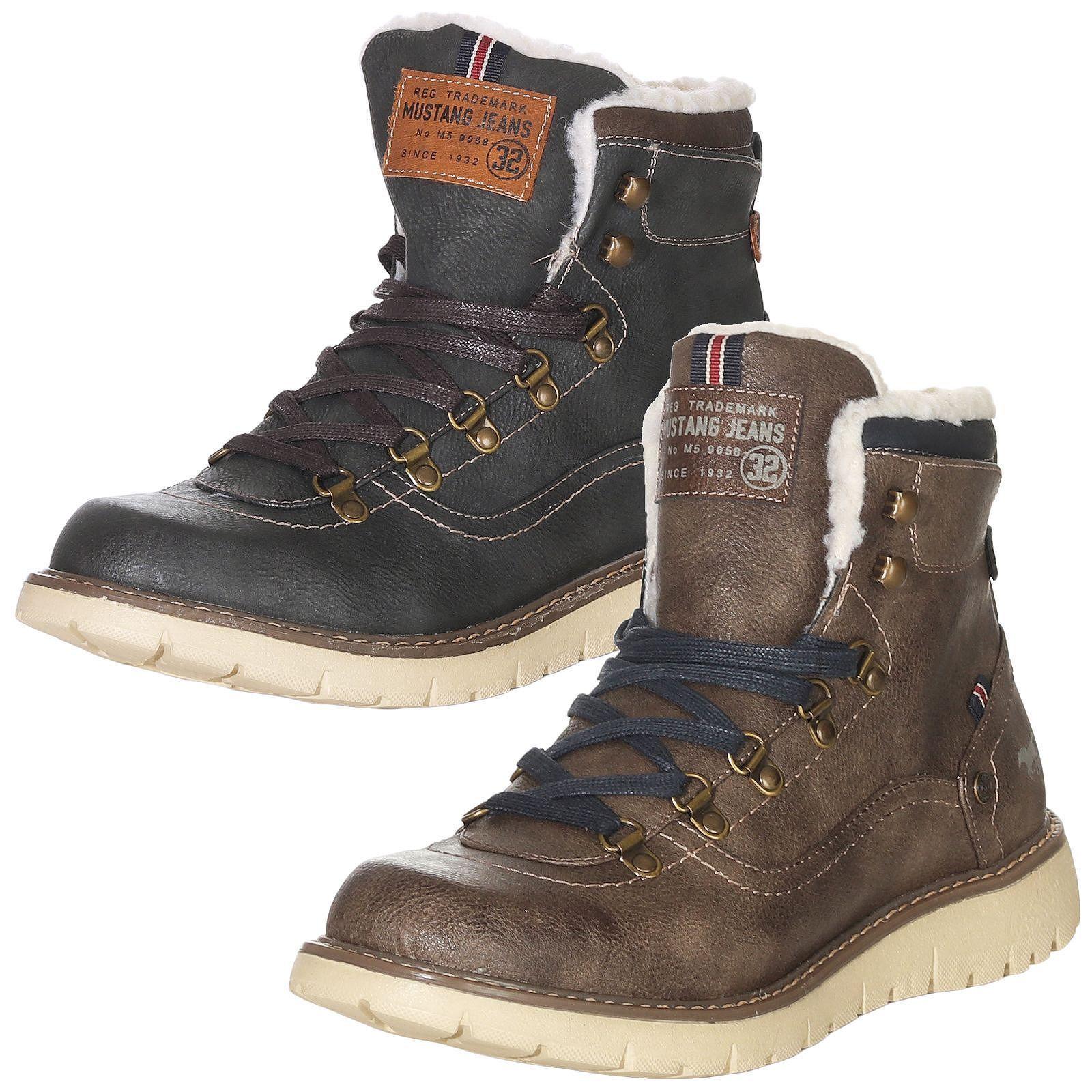 Mustang 4107 Schuhe Herren Winterschuhe Stiefel Turnschuhe mNn0wv8