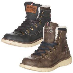 best sneakers 2e2a7 d5b6b Details zu Mustang Herren Schuhe Boots Winterschuhe Sneaker Winterstiefel  Stiefel 4107-606