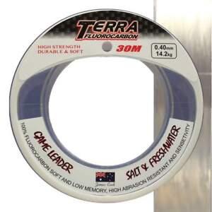 Terra-Game-Leader-Fluorocarbon-0-80mm-43-7kg-30m-Angelschnur-Vorfachschnur