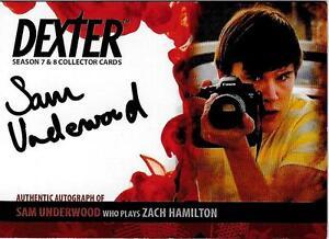 Details about Dexter 7 - 8 : Sam Underwood as Zach Hamilton auto card ASU2