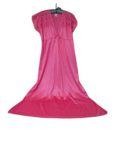 jill andrea long purple lace nightgown made in usa size xxxl