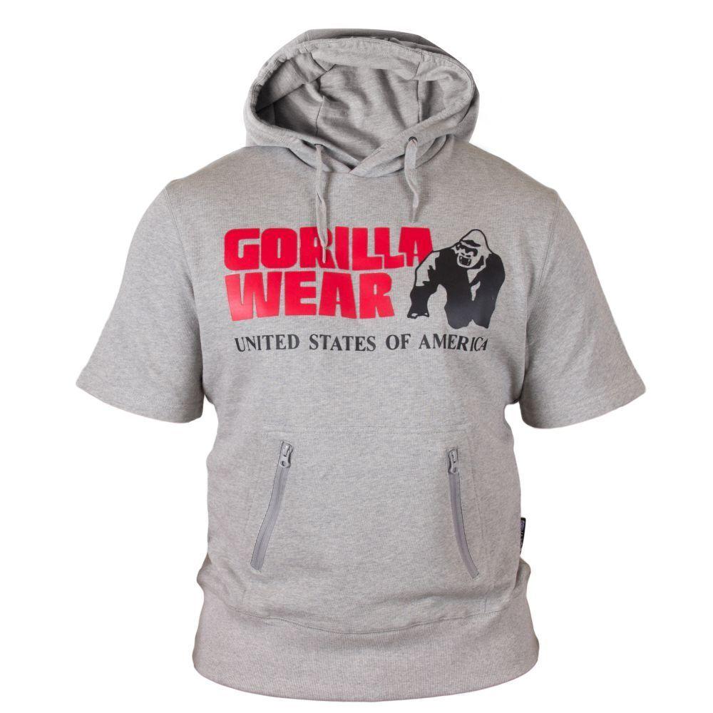 Gorilla wear Boston Manica Corta Hoodie grau