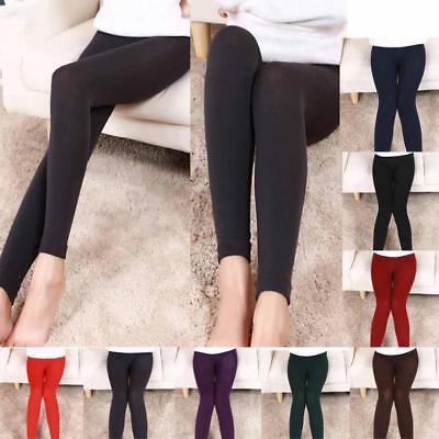 Women Winter Plush Cashmere Leggings Thick Warm Soft Elastic Slim Leggings
