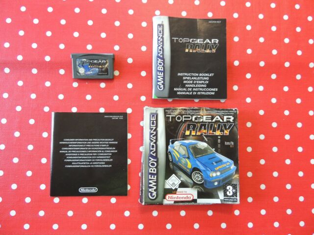 Top Gear Rally Nintendo Gameboy Advance Sp DS Lite dans Ovp avec Instructions