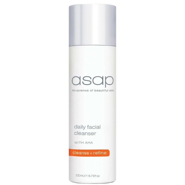 ASAP Daily Facial Cleanser 200ml with AHA & White Tea Oil Free & Removes Make Up