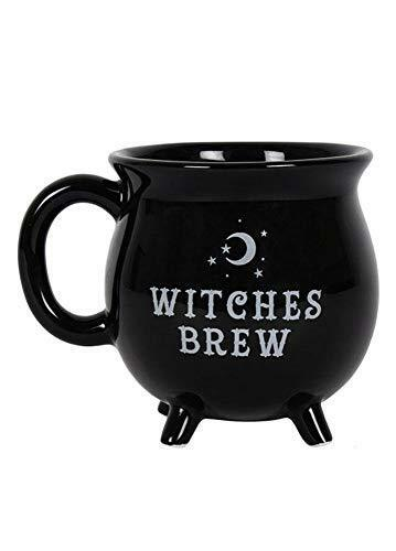 Witches Brew Cauldron Mug Black Collectible Mug Magic Wicca Gothic Pagan