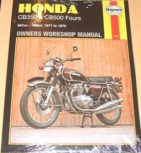 Haynes    Workshop Manual    HONDA       CB    CB350   CB500 Fours 1971