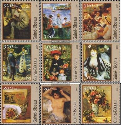 Alert Guinea-bissau 1624-1632 Unmounted Mint Never Hinged 2001 Paintings Topical Stamps Stamps