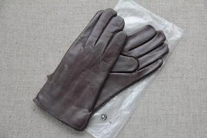 213585b0da878 Details zu Lederhandschuhe Herren Handschuhe Leder gefüttert Wolle Beckumer  Braun