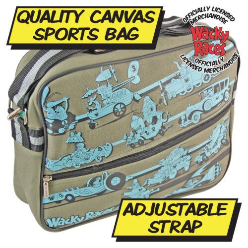 Wacky Races Racers Sports Bag TV Cartoon Gym Travel Bag Holiday Cool Retro